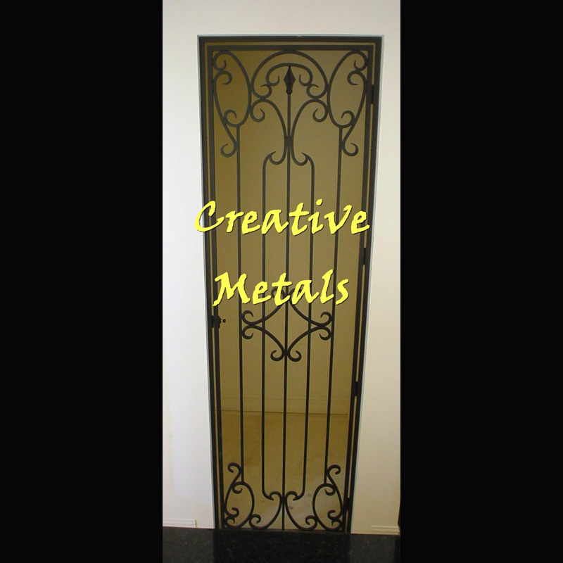 Creative Metal Products Amp Fencing Inc Wine Room Gates